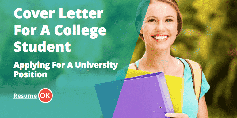 Cover Letter for a College Student Applying for a University ...