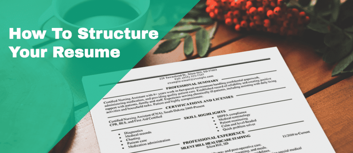 how to structure your resume to tell a story