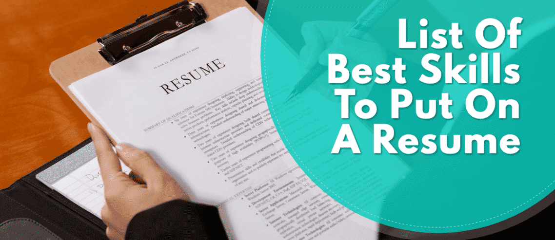resume skills examples and samples List Of The Best Skills To
