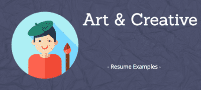 Art & Creative resumes