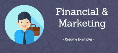Financial & Marketing resumes