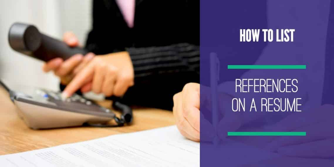 How To List References On A Resume